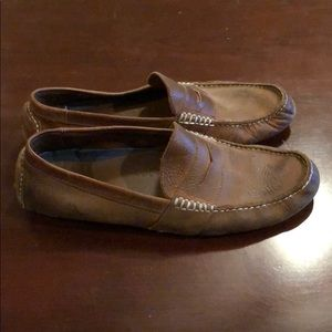 Brown men's polo by Ralph Lauren loafers